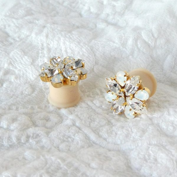 Bridal ear plug earrings 6