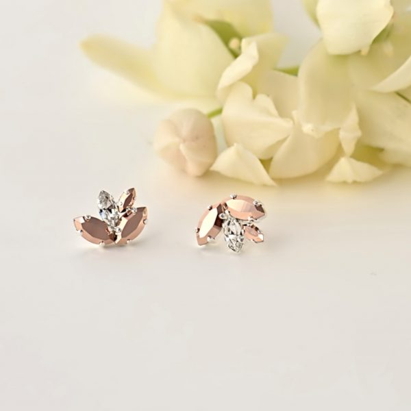 wedding rose gold earrings 1