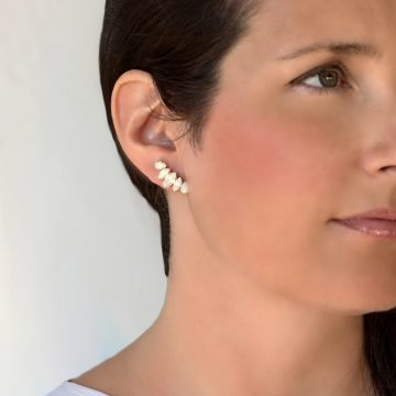 White opal crystal earrings 1