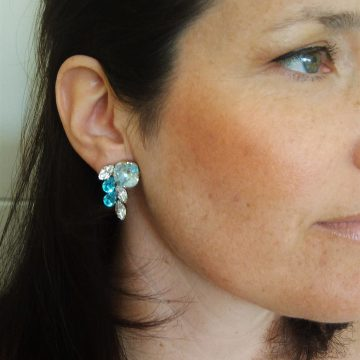 Turquoise cluster earrings 5