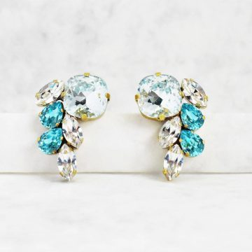 Turquoise cluster earrings 1