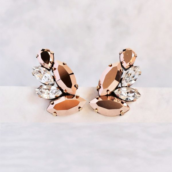 rose gold statement earrings 1