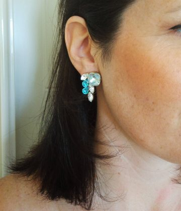 turquoise cluster earrings 2