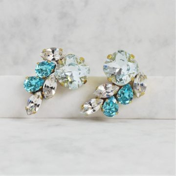 Turquoise cluster earrings 3