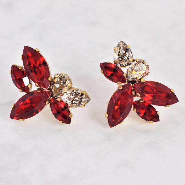 statement red earrings 1