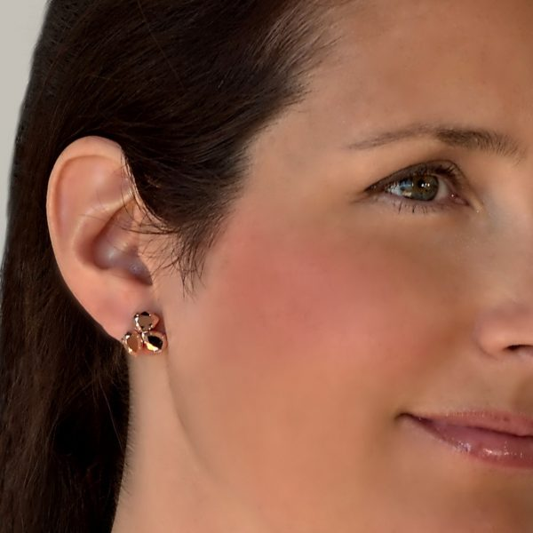 dainty rose gold earrings 1