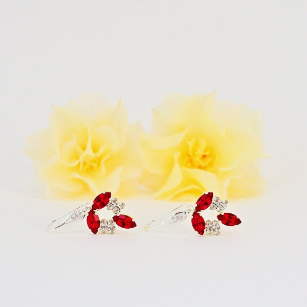 dangle red earrings 1