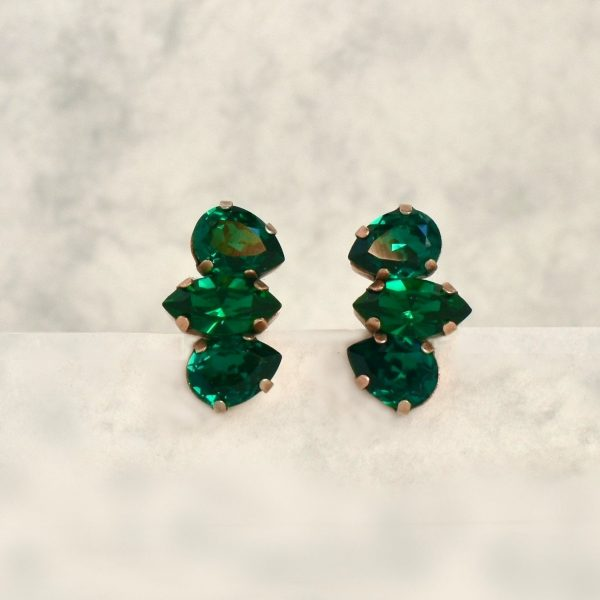 green crystal earrings 1