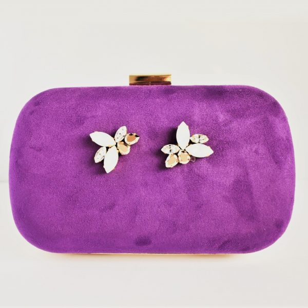Purple clutch bag 1