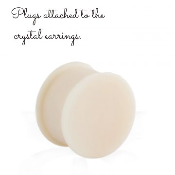 Ear plug accessory for brides, Swarovski earrings
