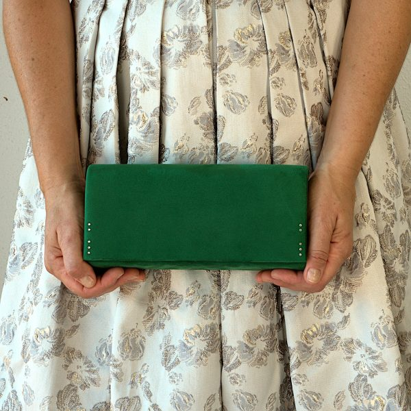 Green clutch bag 1