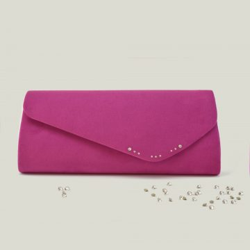 hot pink clutch bag 1