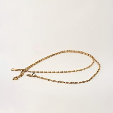 Gold plated chain for clutch