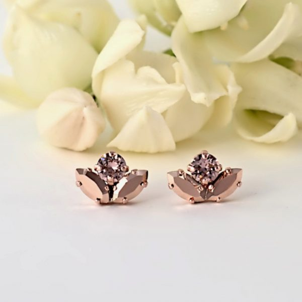 Delicate rose gold earrings