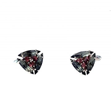 Black and pink cufflinks 2