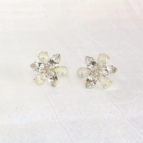 Flower crystal earrings 6