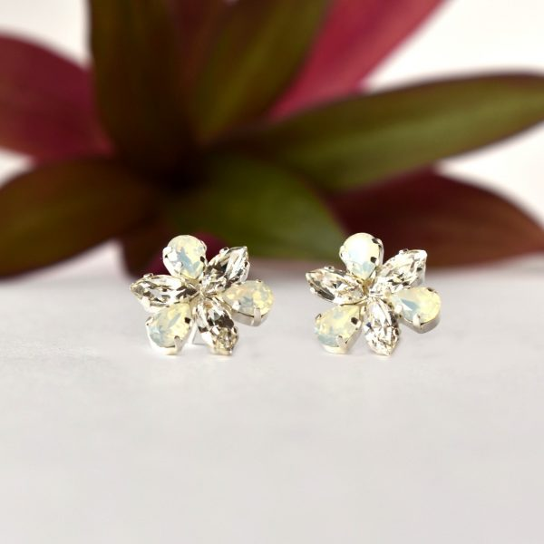flower crystal earrings1