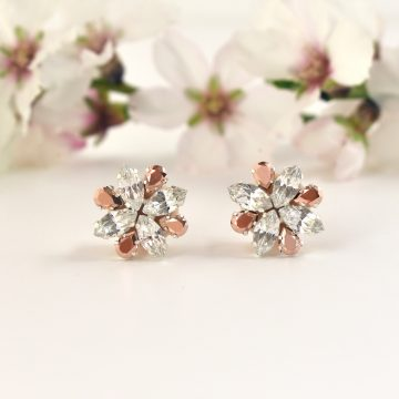 Rose gold crystal earrings2