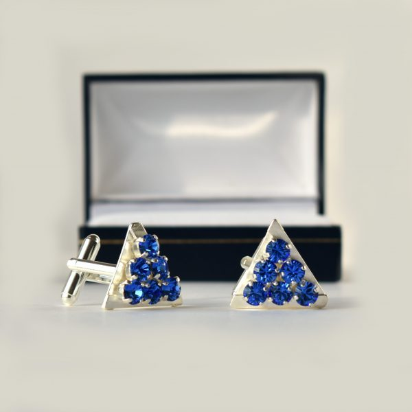 Blue crystal cufflinks 1