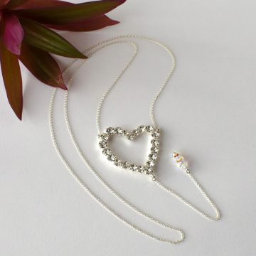 Heart back necklace 4
