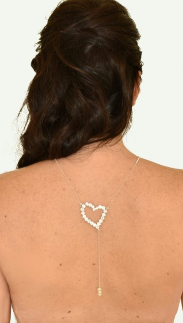 Heart back necklace 1