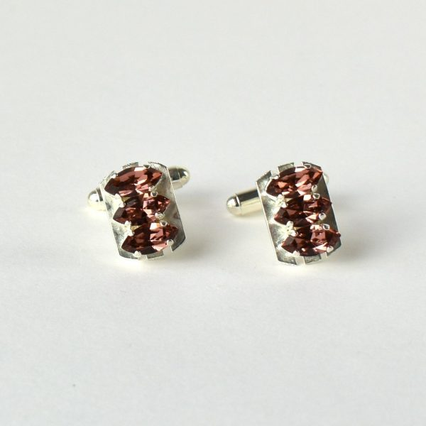 Sterling silver cuff links1