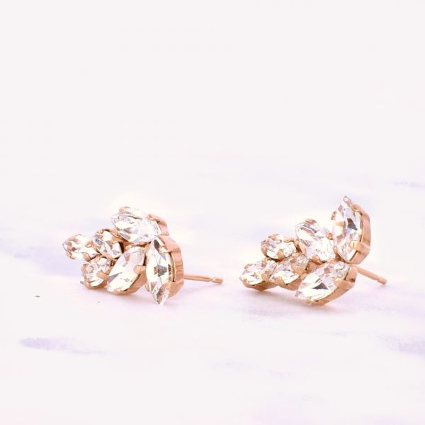 Rose gold stud earrings1