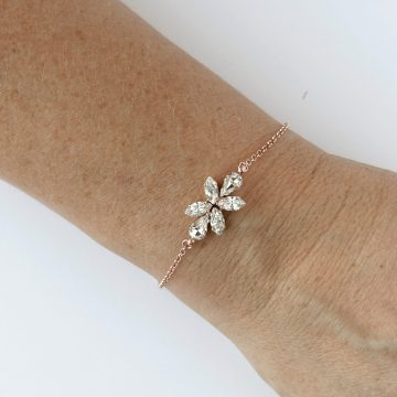 Bridal rose gold bracelet 1