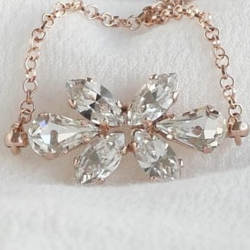 Bridal rose gold bracelet 2