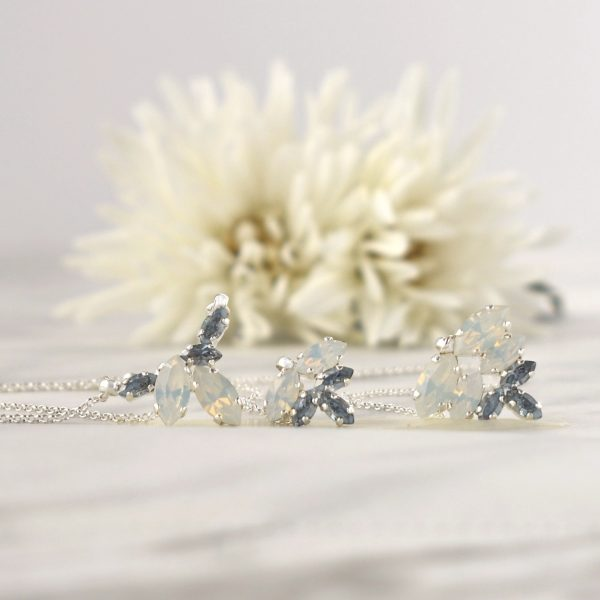 Blue wedding necklace 1